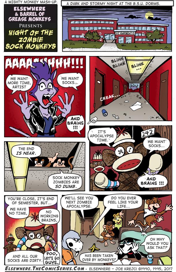 Night of the Zombie Sock Monkeys
